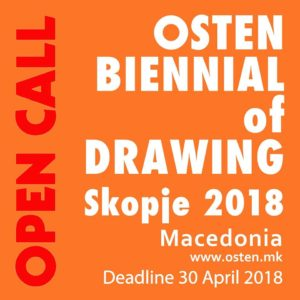 Participation at the Osten Biennial of Drawing, Skopje, Macedonia,